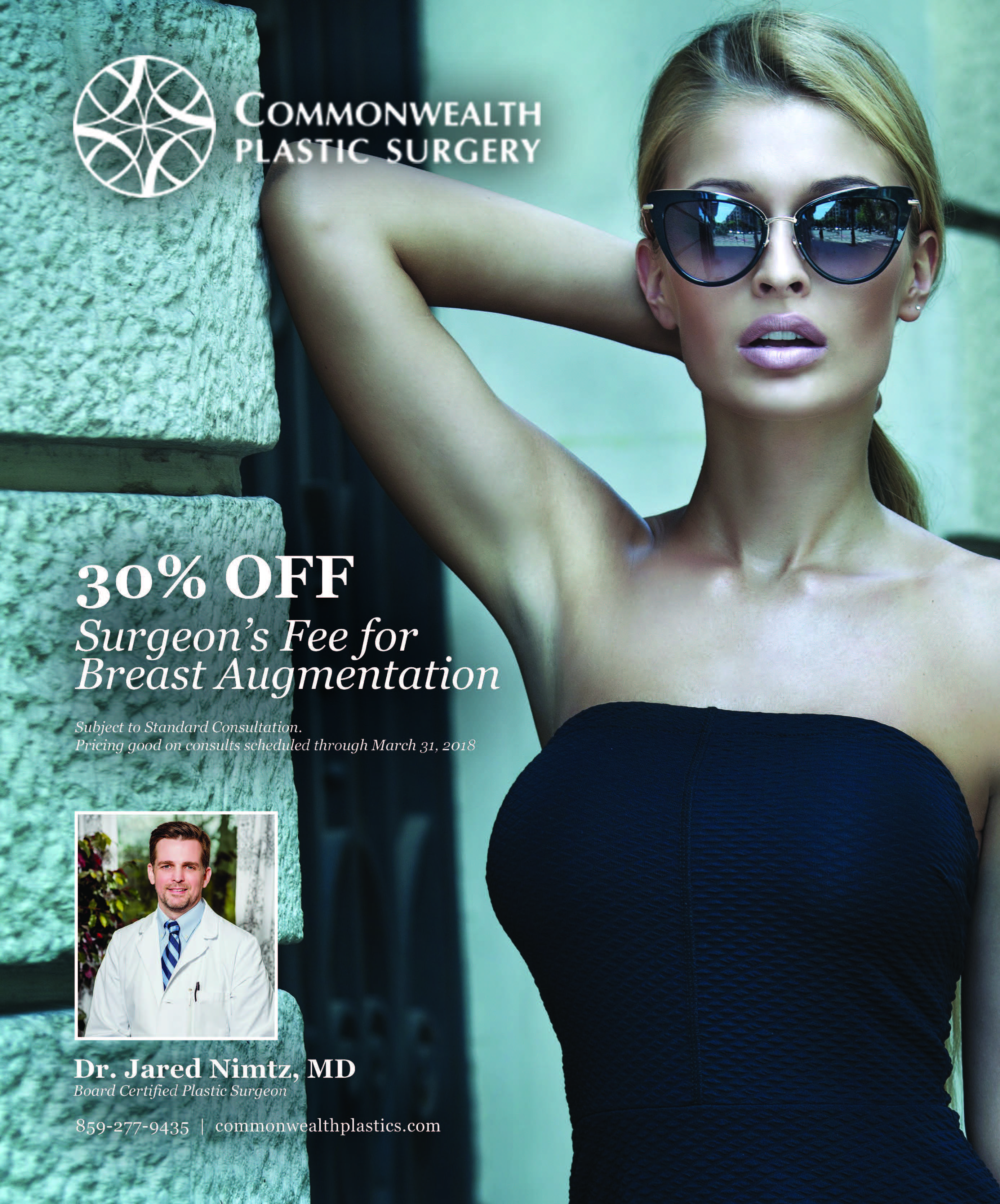 30% off surgeon's free for breast augmentation