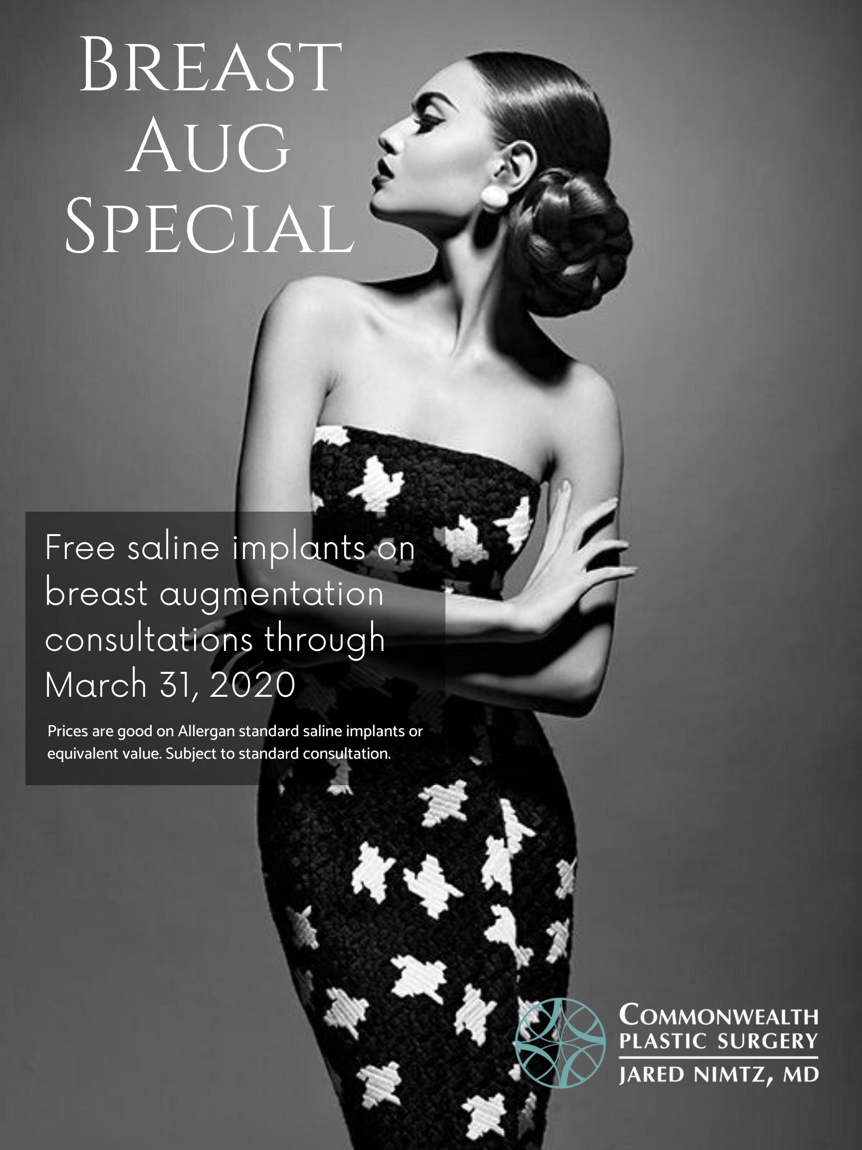 March 2020 breast augmentation special